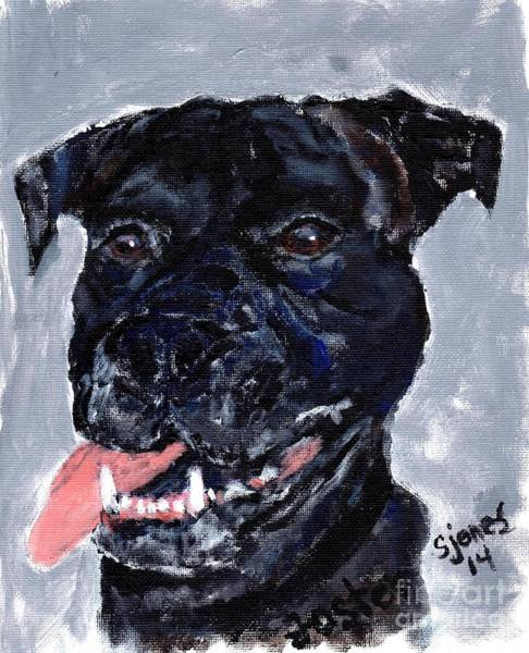 Painting - Mastiff  Boxer Mix  by Shelley Jones