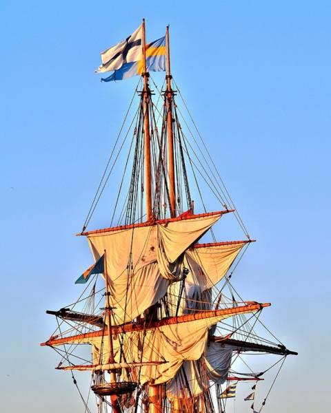 Photograph - Masts Of The Kalmar Nyckel - Lewes Delaware by Kim Bemis