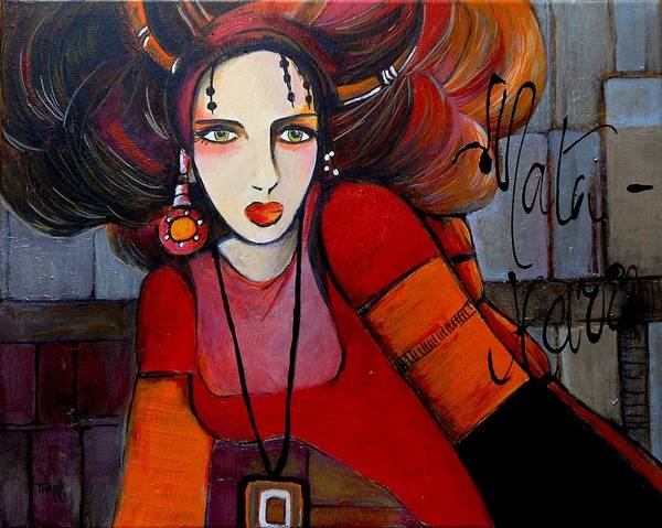 Seducer Painting - Mata Hari by Mirko Gallery