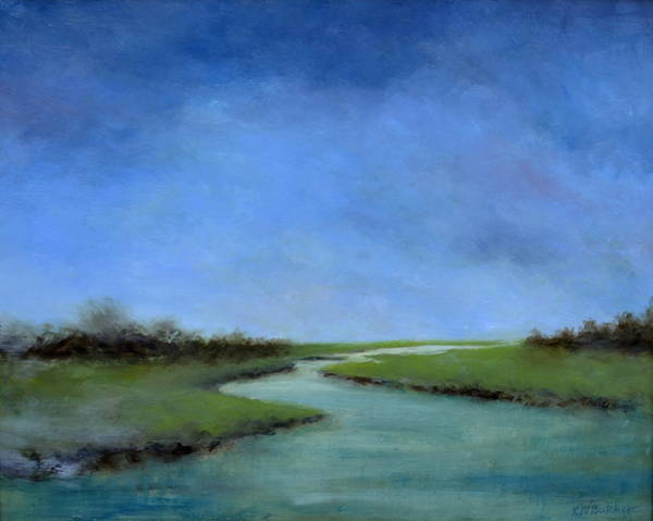 Gulf State Park Painting - Matagorda Morning by Karen Butcher
