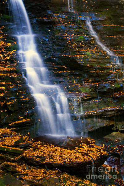 Photograph - Matching Falls by Paul W Faust -  Impressions of Light
