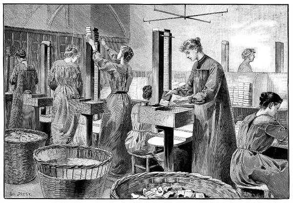 1894 Photograph - Matchstick Factory by Science Photo Library
