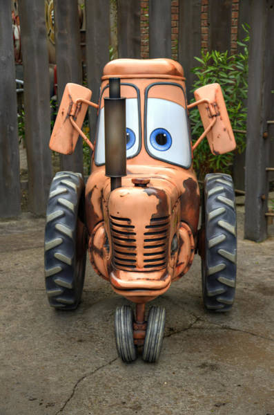 Wall Art - Photograph - Mater's Tractor by Ricky Barnard