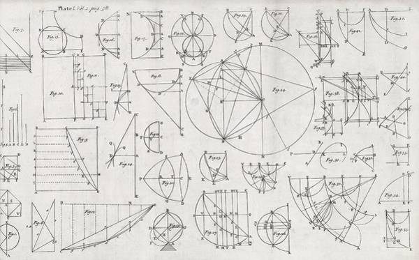 Wall Art - Photograph - Mathematical Diagrams by Middle Temple Library