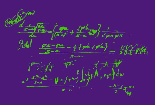Equation Wall Art - Photograph - Mathematics Equations by Jean-loup Charmet/science Photo Library