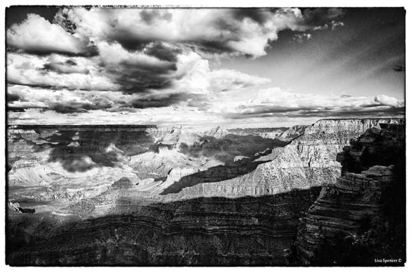Mather Point Photograph - Clouds View From Mather Point  by Lisa Spencer