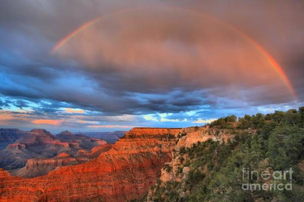 Photograph - Mather Sunset Rainbow by Adam Jewell