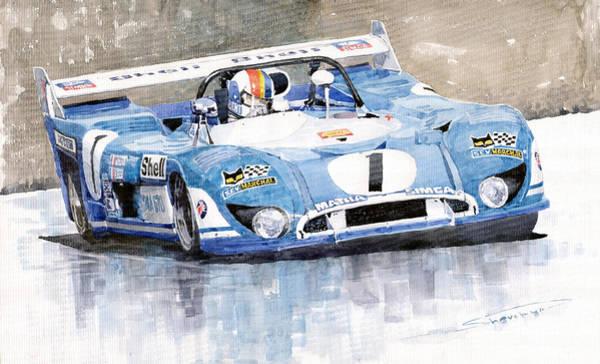 Wall Art - Painting - 1973 Matra Simca 670b Francois Cevert by Yuriy Shevchuk