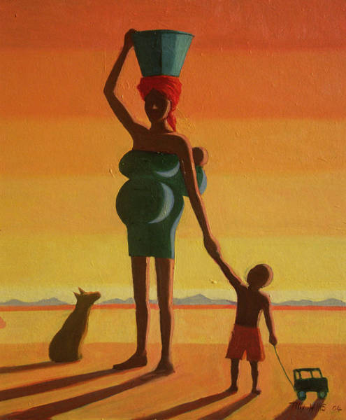 Fetch Photograph - Matriarch, 2004 Oil On Canvas by Tilly Willis