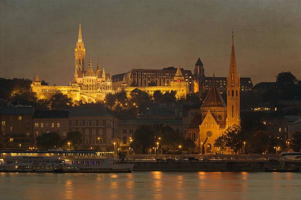 Buda Photograph - Matthias Church Night by Joan Carroll