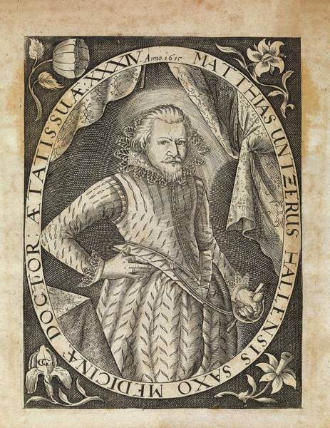 1600s Wall Art - Photograph - Matthias Untzer by Middle Temple Library