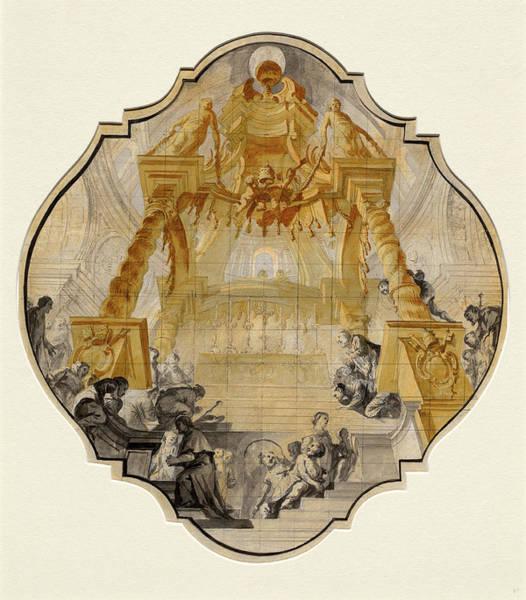 Prepare Drawing - Matthäus Günther, German 1705-1788, Worshippers by Litz Collection