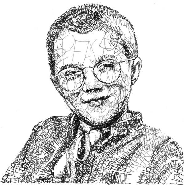 Michael Drawing - Mattie Stepanek by Michael Volpicelli