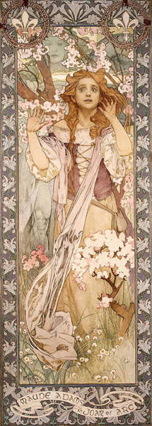 Painting - Maude Adams As Joan Of Arc by Alphonse Mucha