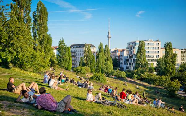 Mauerpark In Berlin, Germany Art Print by Nikada
