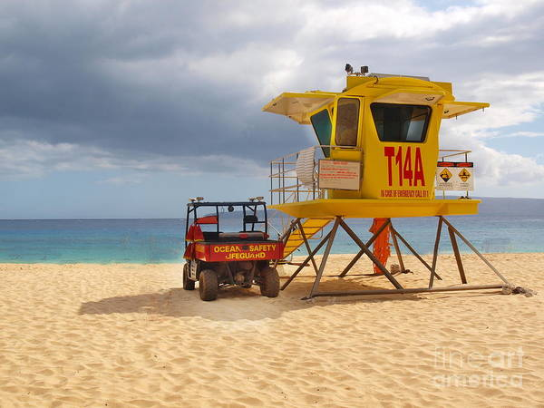 Maui Lifeguard Tower Art Print