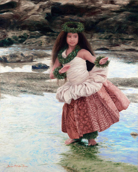 Hula Wall Art - Painting - Maui Princess by Julia O'Malley-Keyes