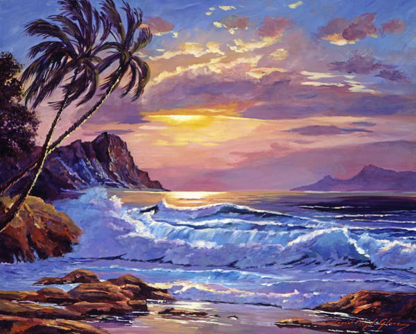 Painting - Maui Sunset by David Lloyd Glover