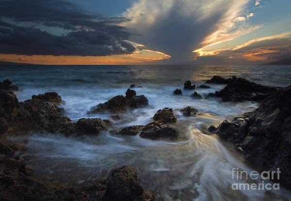 Kihei Photograph - Maui Sunset Tides by Mike  Dawson