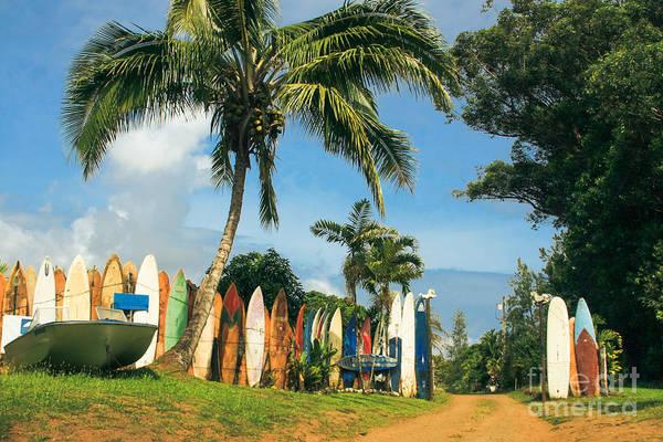 Photograph - Maui Surfboard Fence - Peahi by Sharon Mau