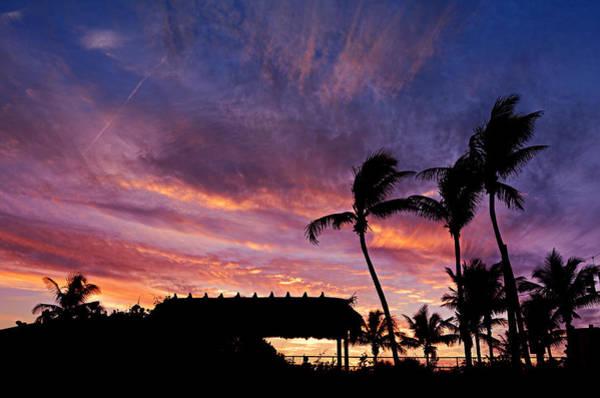 Hawaiian Sunset Photograph - Maui Tiki Sky by Laura Fasulo