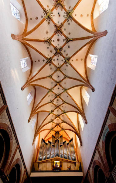 Photograph - Maulbronn Abbey Organ And Ceiling by Jenny Setchell