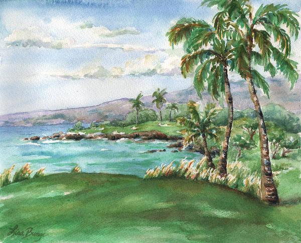 Big Island Painting - Mauna Kea's Signature Hole by Lisa Bunge