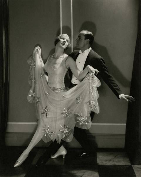 Two People Photograph - Maurice Mouvet And Leonora Hughes Dancing by Edward Steichen