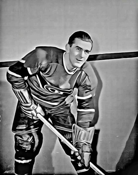 Canadiens Painting - Maurice Richard by Florian Rodarte