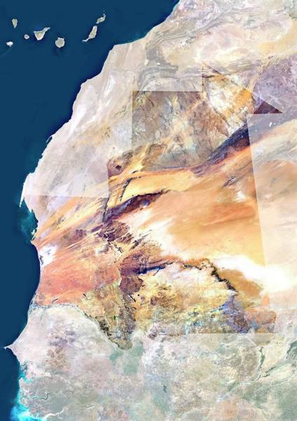 Landsat 7 Wall Art - Photograph - Mauritania by Planetobserver/science Photo Library