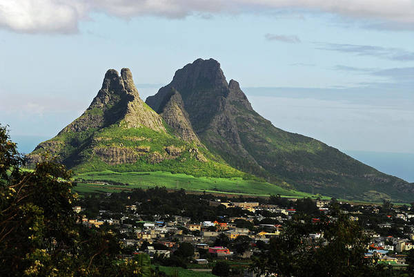 Indian Peaks Photograph - Mauritius, Floreal, Houses by Anthony Asael