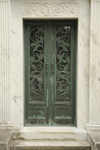 Photograph - Mausoleum Entrance With Marble And Brass by Bradford Martin