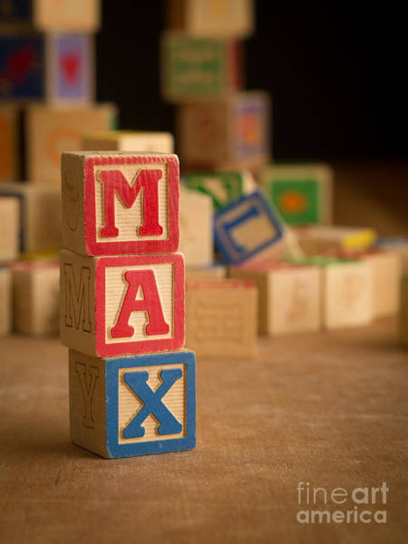Baby Name Wall Art - Photograph - Max - Alphabet Blocks by Edward Fielding