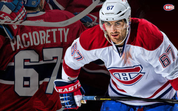 Montreal Canadiens Digital Art - Pacioretty Poster by Nicholas Legault