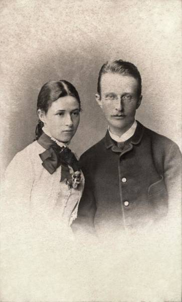 Nobel Prize Winners Wall Art - Photograph - Max Planck And Wife by American Philosophical Society