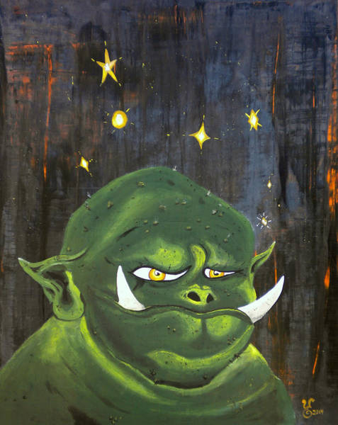 Mojo Painting - Max by Yabette Swank