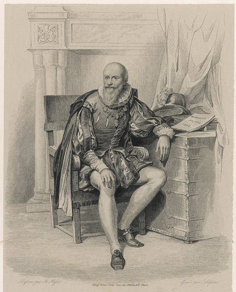 Wall Art - Drawing - Maximilien De Bethune (1560 - 1641) by Mary Evans Picture Library