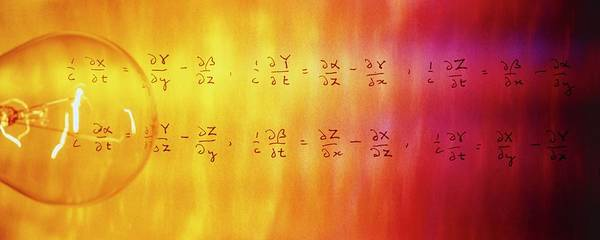 Equation Wall Art - Photograph - Maxwell's Electromagnetic Field Equations by Frances Evelegh/science Photo Library