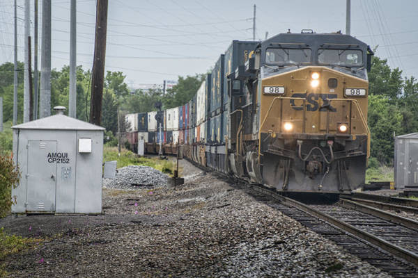 Subdivision Photograph - May 14 2014 - Csx Intermodal At Amqui Tn by Jim Pearson