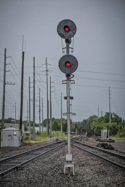 Subdivision Photograph - May 14 2014 - Csx Searchlight Railroad Signal At Amqui Tn by Jim Pearson