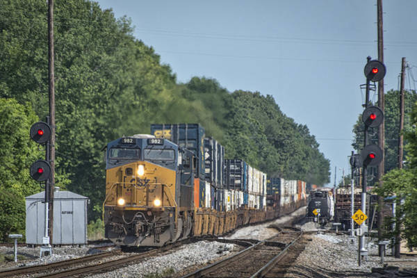 Subdivision Photograph - May 19 2014 - Csx Q028 At Guthrie Ky by Jim Pearson