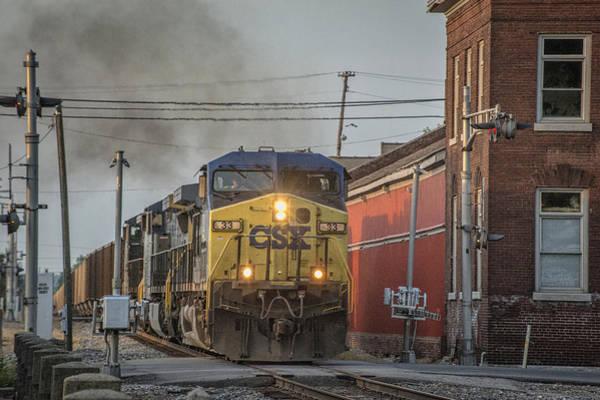 Subdivision Photograph - May 19 2014 Csx Loaded Coal Train At Hopkinsville Ky by Jim Pearson