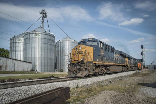 Subdivision Photograph - May 19 2014 Csx Q029 At Trenton Ky by Jim Pearson