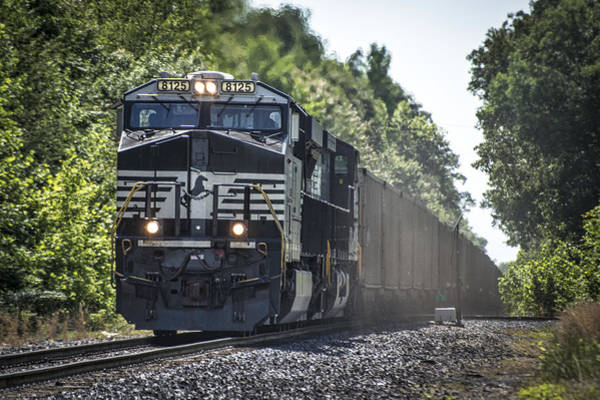Ns Photograph - May 20 2014 - A Ns Coal Train At Madisonville Ky by Jim Pearson