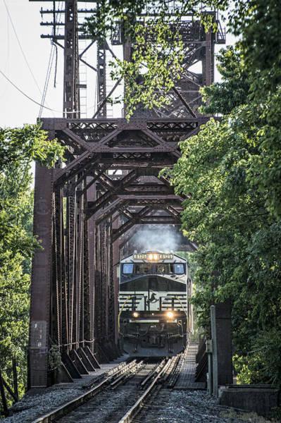 Norfolk Southern Wall Art - Photograph - May 20 2014 - A Ns Coal Train At Rockport Ky by Jim Pearson