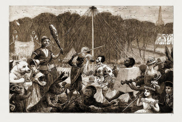 Manchester Drawing - May Day Fete At Worsley, Manchester, Uk by Litz Collection