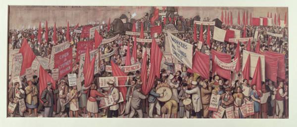 Demonstration Photograph - May Day In Trafalgar Square, London, 1938 by Robin Ball