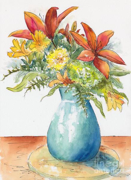 Painting - May Spray Floral by Pat Katz