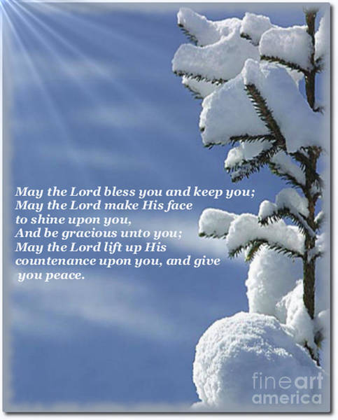 Digital Art - May The Lord Bless You And Keep You by Charles Robinson