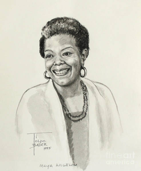 Painting - Maya Angelou by Art By - Ti   Tolpo Bader